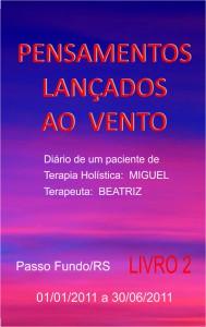 Capa do Livro Pensamentos Lançados ao Vento - Livro 02