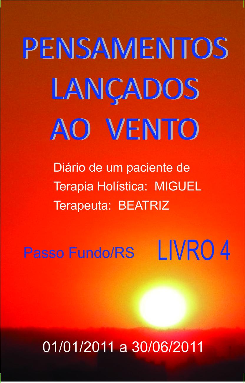 Capa do Livro Pensamentos Lançados ao Vento - Livro 04